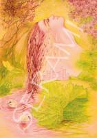 """Wasserfall"" Kunstdruck, Bild, Reproduktion"
